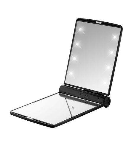 LED Foldable Mirror Flash Fake Eyelashes - Wink My Way