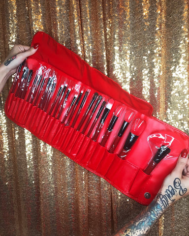 24 piece synthetic fiber RED brush Set Flash Fake Eyelashes - Wink My Way