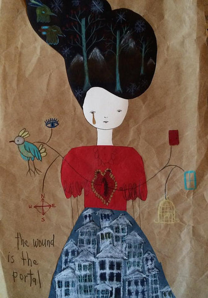 """The Wound Is A Portal"" by Emma Magenta"