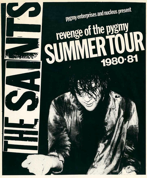 The Saints 'Revenge of the Pygmy' - Summer Tour Australia 1980-81.  A1/A2 Archival Giclee Print. Repro Poster