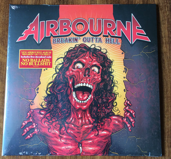 "Airbourne - ""Breakin' Outta Hell"", EU vinyl LP NEW sealed"