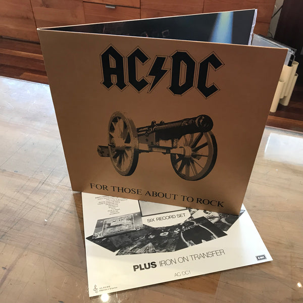 "AC DC ""For Those About To Rock"", Australian 1st Albert Label APLP.053 + Insert & Embossed Cover."