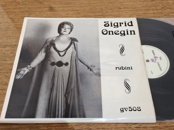Sigrid Onegin, Vinyl LP on UK Rubini # GV508