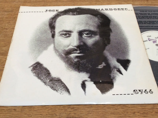Jose Mardones, Vinyl LP on UK Rubini # GV.44. Spanish operatic bass singer (1869-1932)