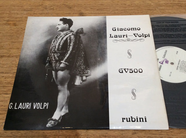 Giacomo Lauri Volpi, Vinyl LP on UK Rubini # GV.500.