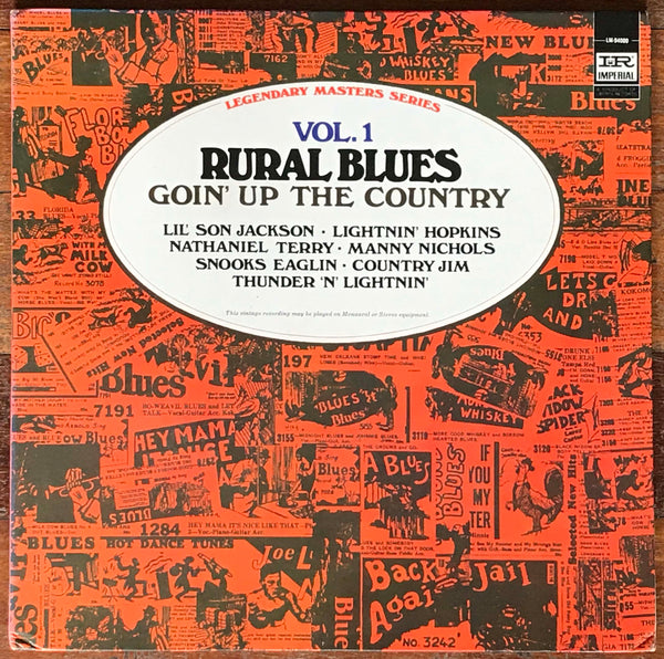 Rural Blues Vol 1: Goin' Up The Country, Imperial ‎– LM-94000, Legendary Masters Series.