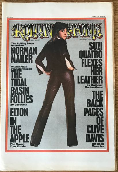 Rolling Stone Magazine Australian Edition SUZI QUATRO / NORMAN MAILER, ISSUE # 177 JANUARY 2, 1975