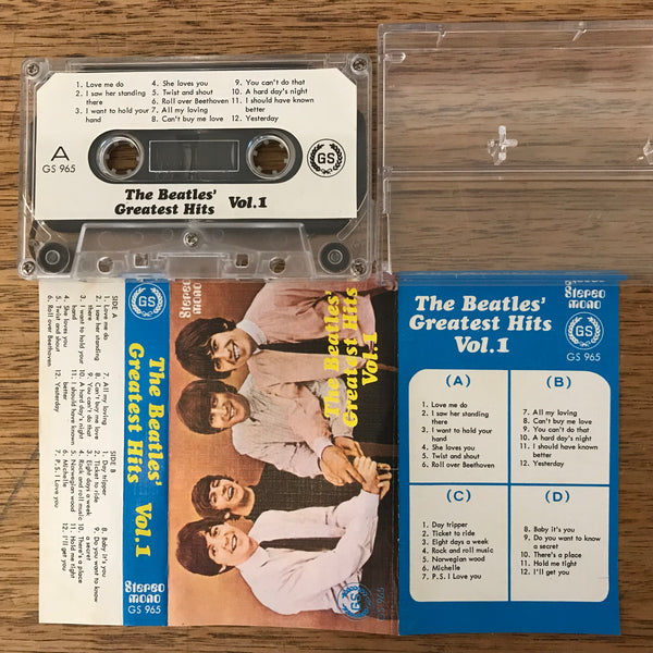 "The Beatles ""Greatest Hits Vol. 1"", Singapore Cassette Tape GS 965"