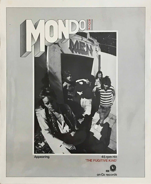 "Mondo Rock ‎– ""The Fugitive Kind"", 1978 Original Unused Gig / Retail Promo Poster."