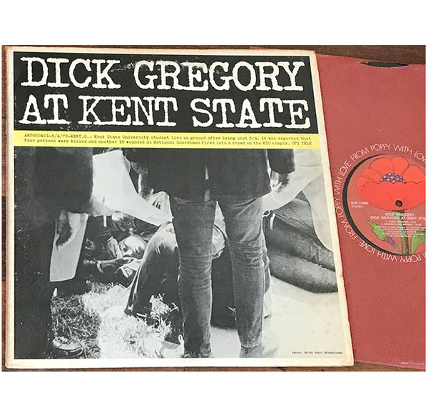 Dick Gregory ‎– At Kent State, 1971 Poppy ‎– PYS 5600 Gatefold 2xLP