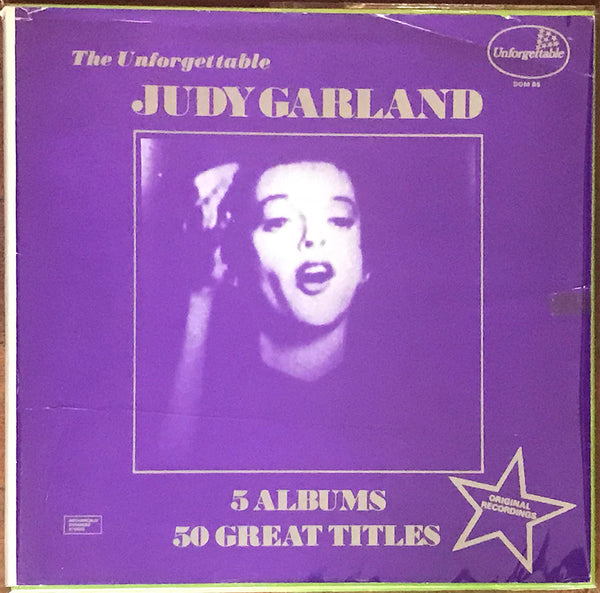 The Unforgettable Judy Garland, 5 Albums UK Domino Boxset DOM B5