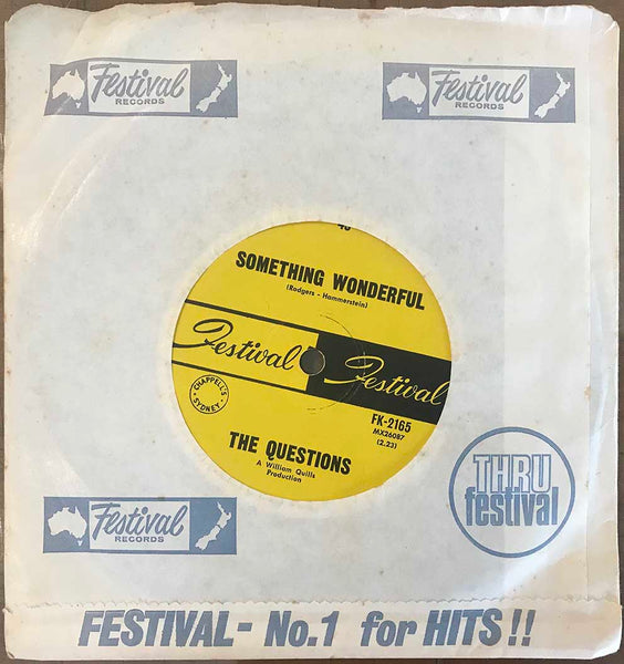 The Questions ‎– Something Wonderful, 1968 Festival Records ‎– FK-2165