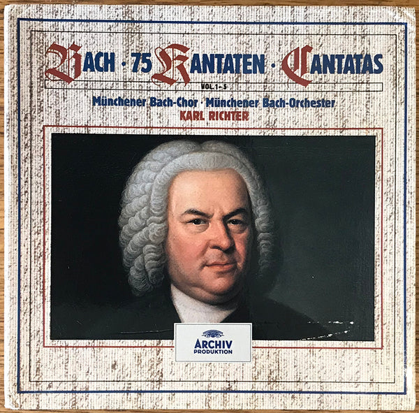 """Bach 75 Cantatas"" Karl Richter, 26 CD Box Set Full Silver German Archiv 439 368-2 PMDC no IFPI 439 368-2"