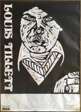 Louis Tillett, Letters to a Dream, Lucy Child woodcut orig poster 1992