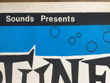 The Neptunes, Perth Garage Surf Band, original unused gig poster, 1980s