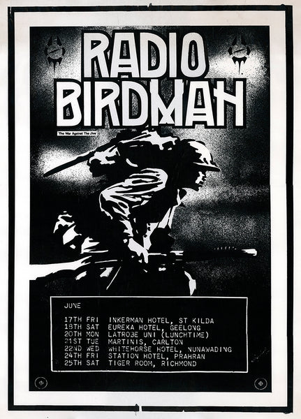 "Radio Birdman ""The War Against The Jive / Rock N Roll Soldiers"".  Archival Giclee Print. Repro Poster"