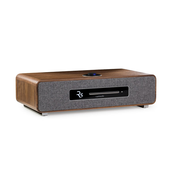 Ruark Audio R5 Integrated High Fidelity Music System Walnut. Spotify, Bluetooth, CD, etc.