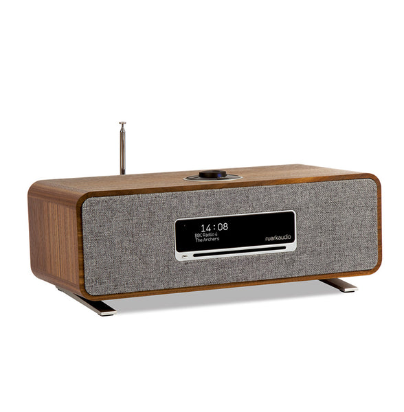 Ruark Audio R3 Connected Music System Walnut. CD player, Comprehensive WiFi streaming with Spotify