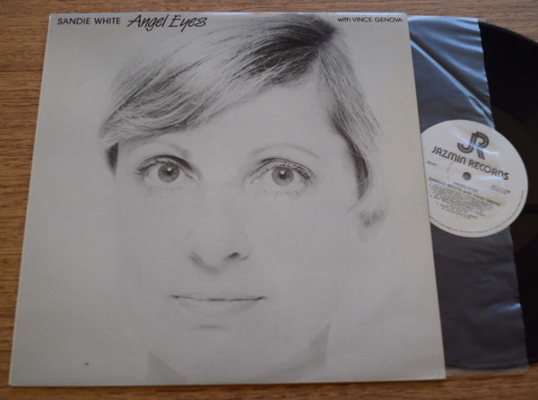 "Sandie White ""Angel Eyes"", Australian Jazz with Vince Genova, NM Jazmin LP CAT. 83-01"