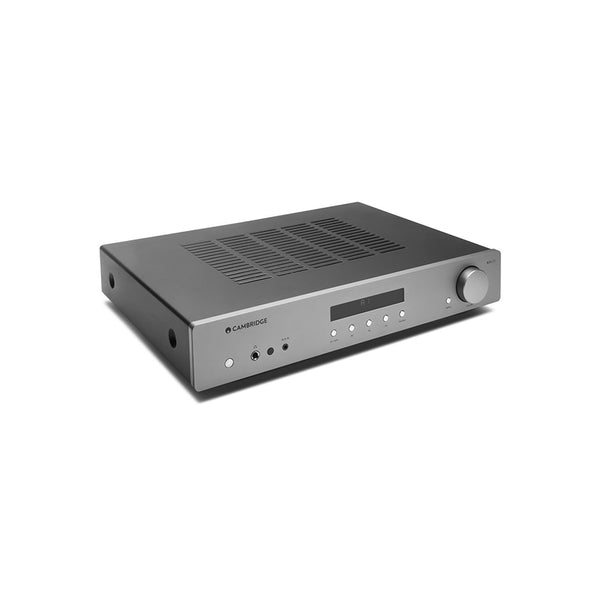 Cambridge Audio AXA35 Stereo Amplifier (Grey) with built-in MM phono stage for turntable enthusiasts