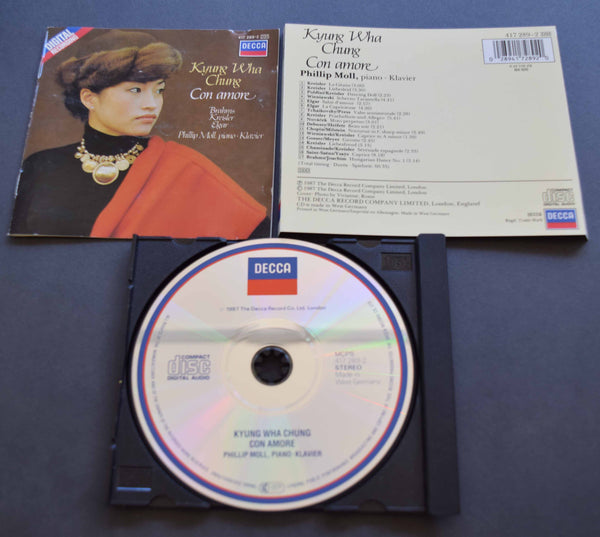 "Kyung Wha Chung ""Con Amore"", Brahms etc. West German Decca CD 417 289-2"