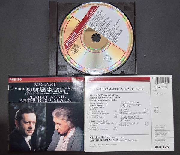 Clara Haskil / Arthur Grumiaux, Mozart. West German Philips CD 412 253-2