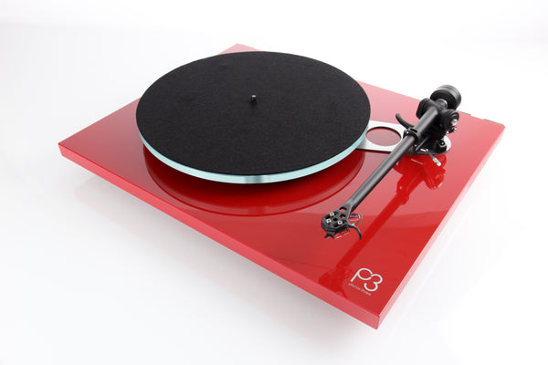 Rega Planar 3 with Phono Cartridge Elys2 MM. Platter in Red, White or Black.