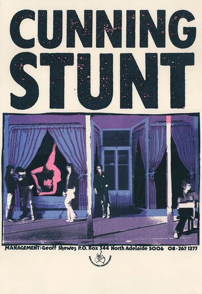 Adelaide rock band The Cunning Stunt, Unused 1978 Gig Poster.