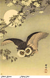 "Ohara Koson  ""Flying Owl"" , archival giclee print on washi paper"