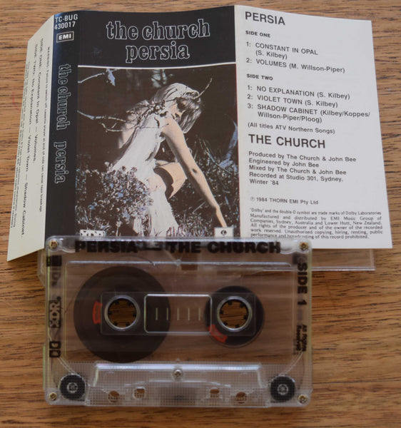 "The Church - ""Persia"", Thorn EMI  XDR Australian Cassette Tape."