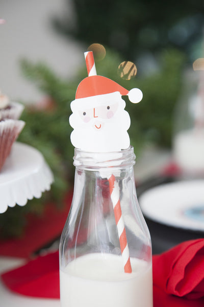 SANTA AND REINDEER STRAWS