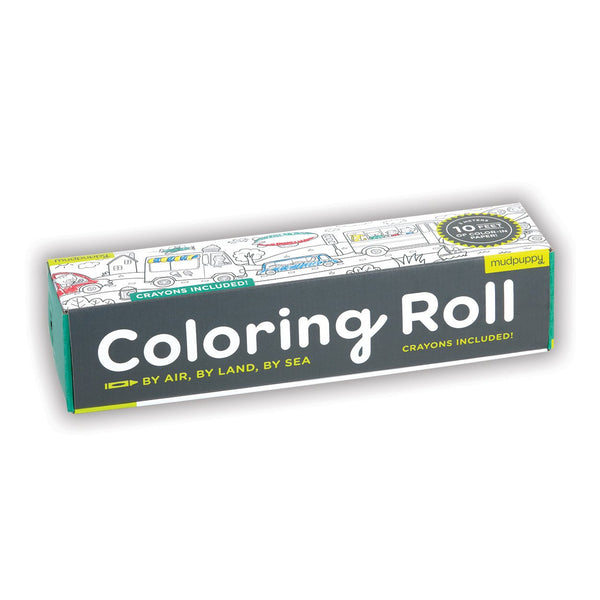 BY AIR, BY LAND, BY SEA COLORING ROLL