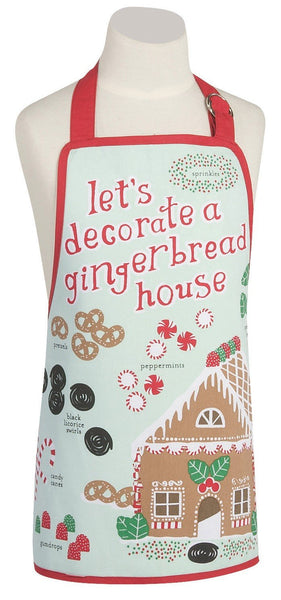 GINGERBREAD HOUSE KIDS APRON