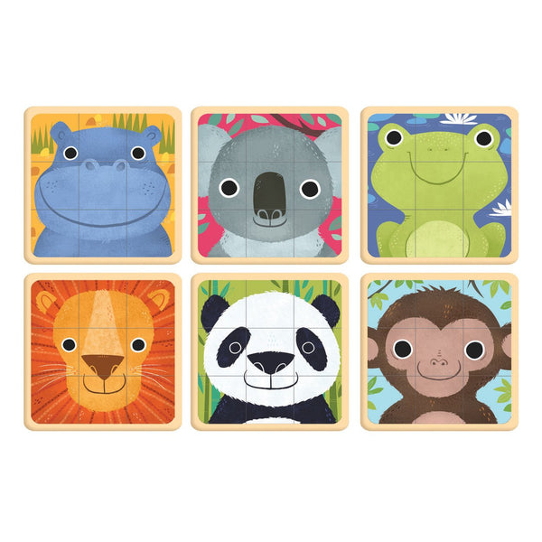ANIMALS OF THE WORLD PUZZLE SQUARES