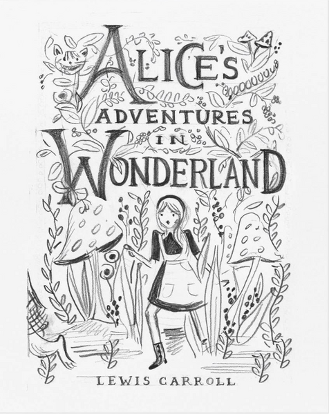 ALICE SKETCH ART PRINT