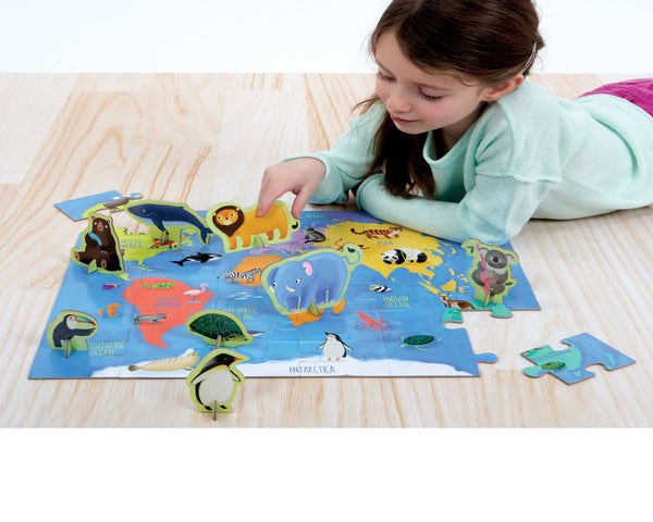ANIMALS OF THE WORLD PUZZLE PLAY SET