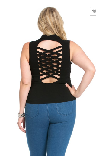 Plus size halter top