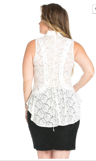 Plus sized lace top