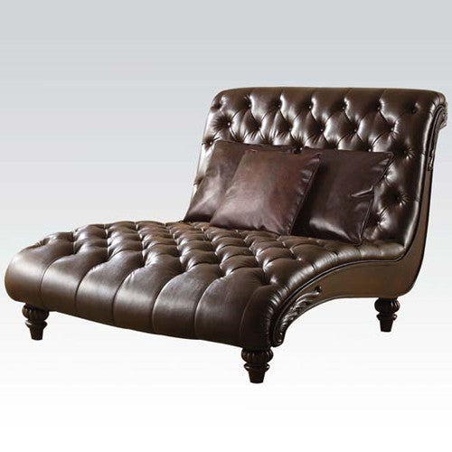 Dual Person Leather Frequency Massage Chaise