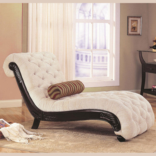 White Chaise Lounge Chair with Frequency Massage