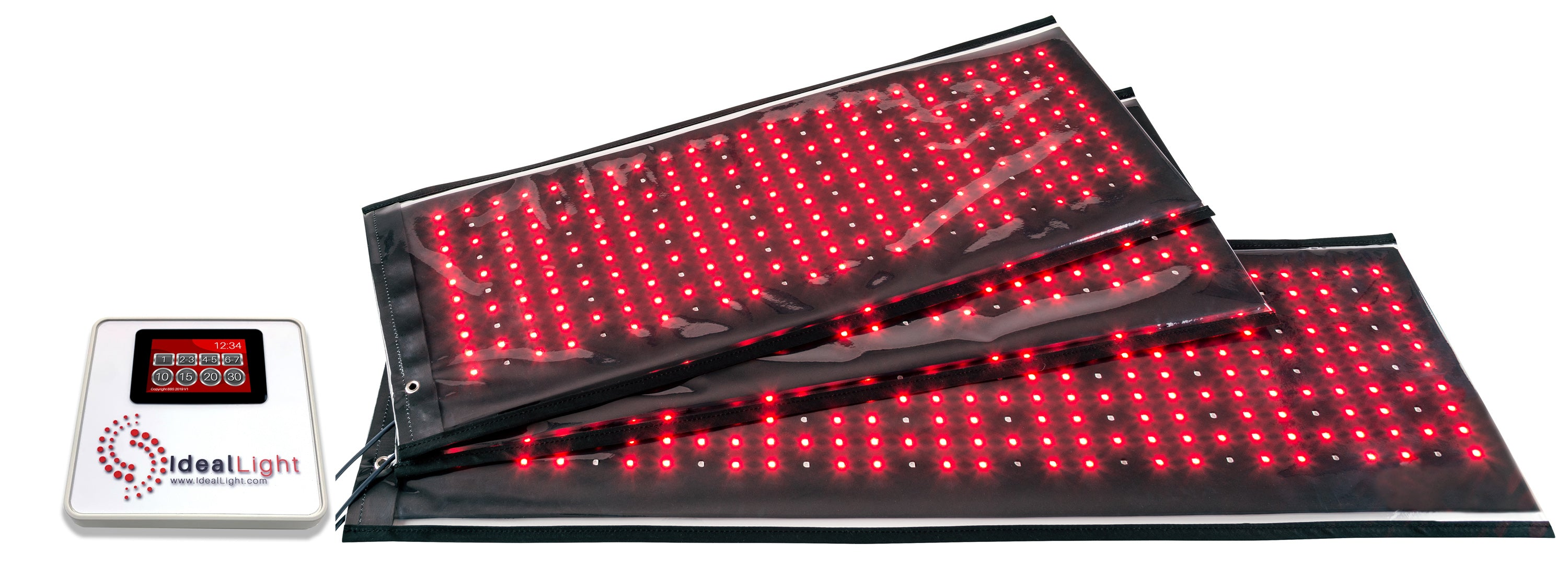 Ideal Light 3 pad professional and home use red light therapy system for pain relief and  red light body contouring