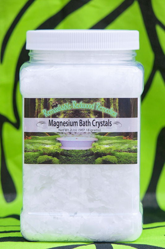 Pure Magnesium Chloride Crystals (2 LB Container: save $3)