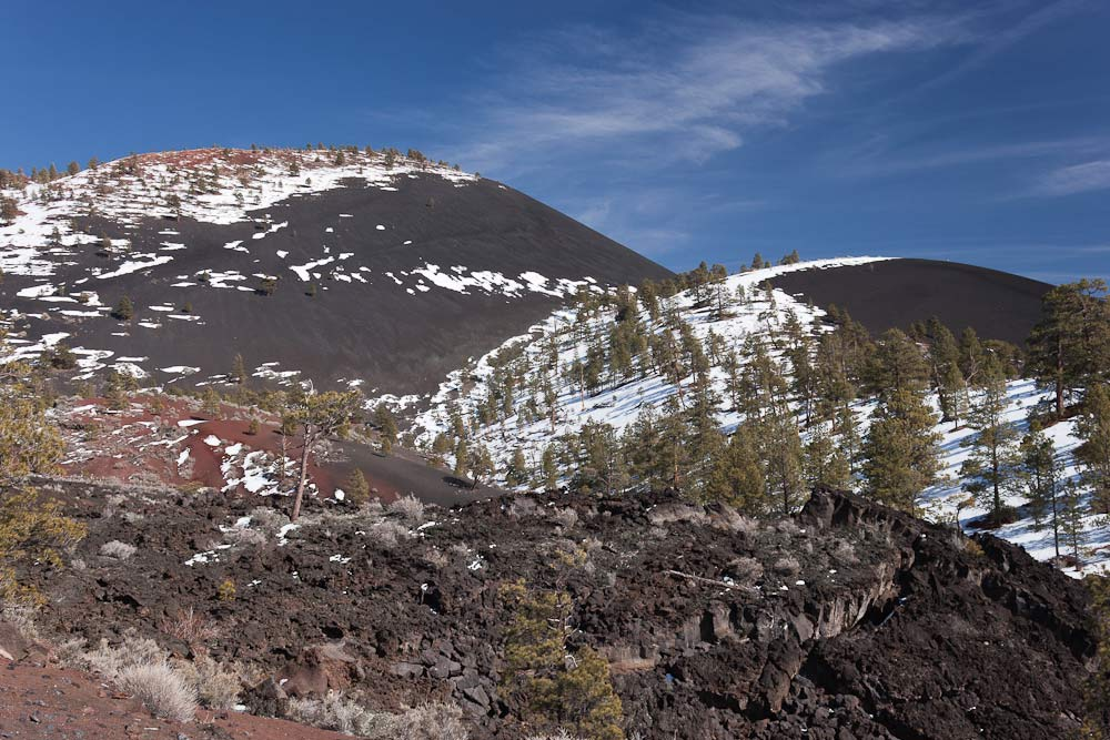 lava flow trail sunset crater