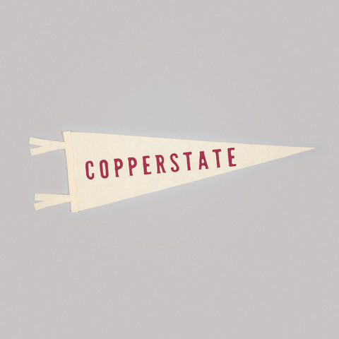 Cream Copper State Pennant