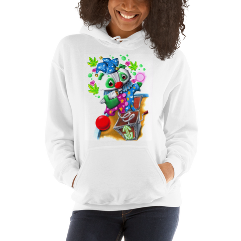 Jack-In-The-Box Pull Over Hoodie Sweatshirt (Unisex)