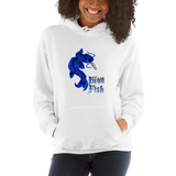 Blow Fish Pull Over Hoodie Sweatshirt (Unisex)