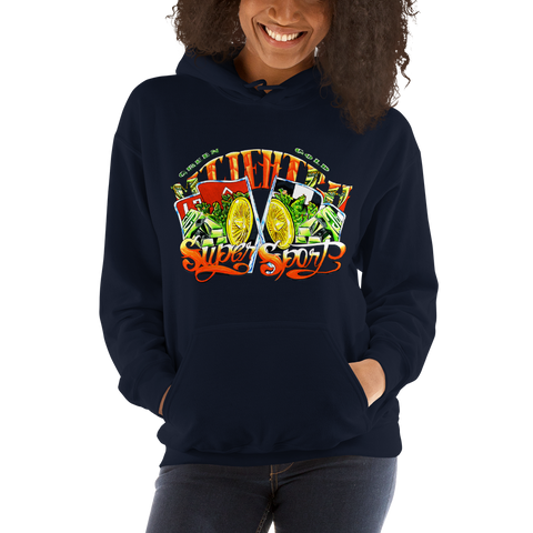Super Sport Pull Over Hoodie Sweatshirt (Unisex)
