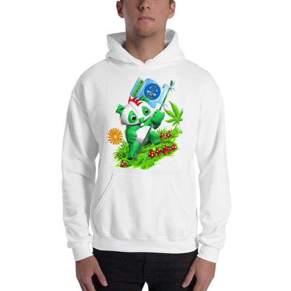 Flag Bear Pull Over Hoodie Sweatshirt
