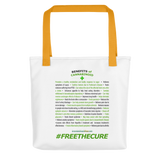 Benefits Of Cannabinoids (Free The Cure) Tote bag