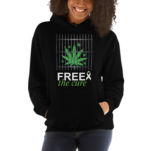 "Free The Cure ""Bars"" Pull Over Hoodie Sweatshirt (Unisex)"